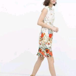 Zara Dresses - Zara NWT Floral printed classy tube dress